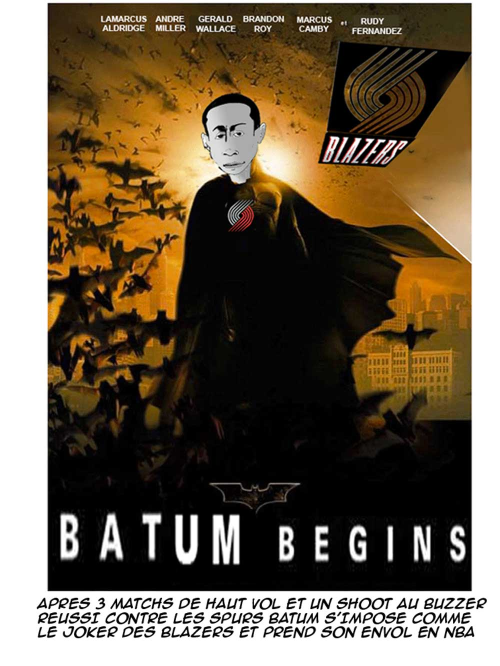 Après 3 matchs de haut vol et un shoot au buzzer réussi contre les Spurs, Batum s'impose comme le joker des Blazers et prend son envol en NBA.