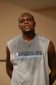 Z-Bo est vraiment un autre homme aux Grizz: maintenant il transpire aux entrainement!